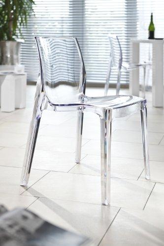 SalesFever Design Stuhl Sari transparent
