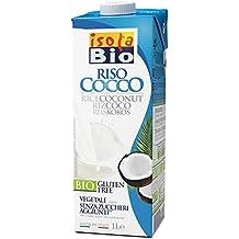 Isola Bio Bebida Vegetal de Arroz con Coco - Paquete de 6 x 1000 ml - Total: 6000 ml