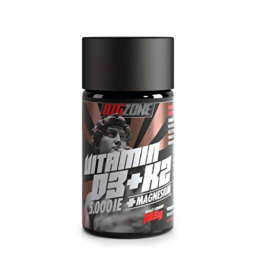 Big-Zone Vitamin D3 + K2 + MG Magnesium | 5000IE | 90 hochdosierte Tabletten | Top Qualität | Sport Supplement Nahrungsergänzung