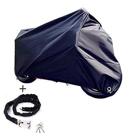Abester Fahrradabdeckung für 2 Fahrräder 190T Nylon Fahrradschutzhülle Wasserdicht Anti Staub Regen UV Schutz für Mountainbike Rennrad (Schwarz)