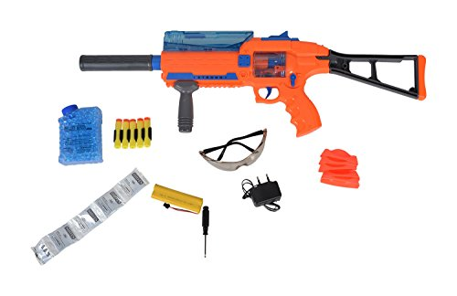 Planet Of Toys Super Power Multifunctional Weapon - 2 Modes - Soft Bullets & Water Bullets (Orange) For Kids / Children