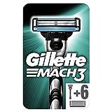Gillette Mach 3 Lamette di Ricarica, Manico Gratis, Confezione da 7 Lamette