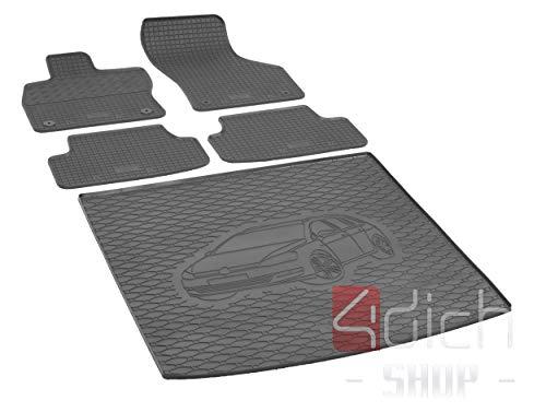 Passgenaue Kofferraumwanne und Gummifußmatten geeignet für VW Golf VII Variant ab 2013 - EIN Satz