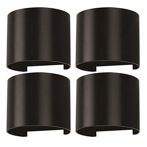 Verstellbare Flügel-lampe (4x LED Außen Wand Strahler Effekt UP DOWN Lampen Flügel verstellbar schwarz)