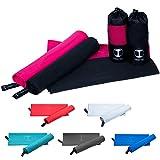 Funny Tree Mikrofaser Handtücher schnelltrocknend antibakteriell platzsparend Ultraleicht, perfekt für Reisen Sport Yoga Fitness Strand UVM (pink, 3: (70cm x 140cm))