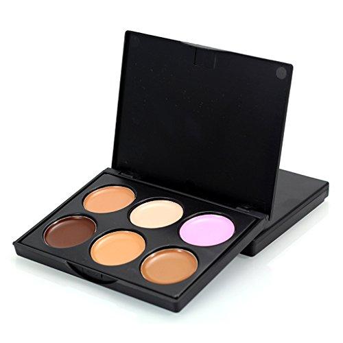 Meisijia Femmes 6 Couleurs Contour Visage Crème Maquillage Concealer Palette pour Maquillage Cosmétique FM02