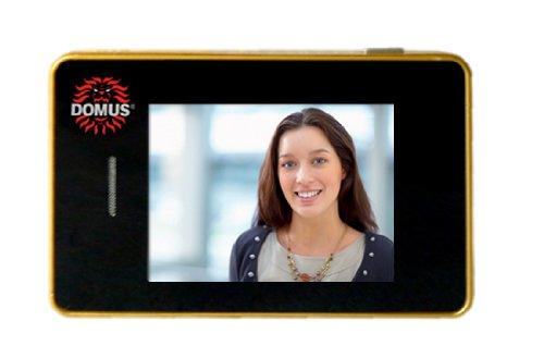 Domus SE01G Smart-Eye Spioncino Digitale Intelligente, Oro