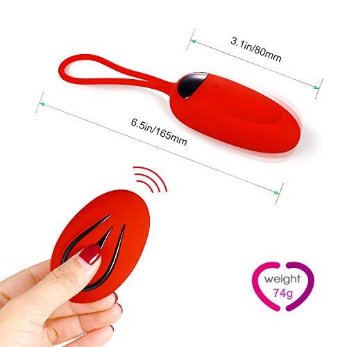 Masajeador, 12 Modos,  USB Recargable,  Color Rojo