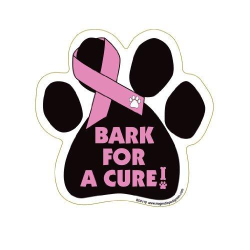 Pet Gifts USA Bark For A Cure - Brustkrebs-/Pfotenband-Magnet, für Auto/LKW und Briefkasten, mit Aufschrift