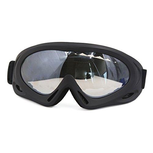 sourcingmap® Schwarz Frame klar Elastisch Gurt Motorkreuz Motorrad Erwachsene Goggle Glas de