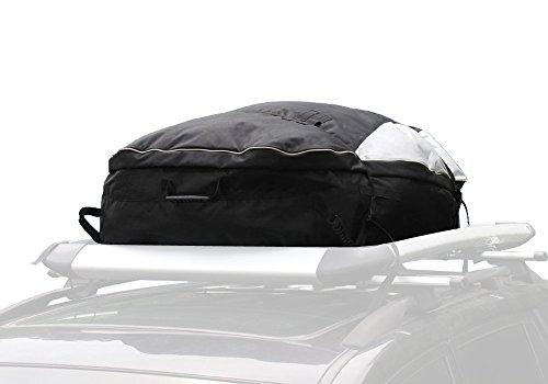 Koolertron 600D Oxford und Wasserdicht PVC-Beschichtung Material Faltbare Dachgepäckträger-Tasche Lagerung Frachttasche 450L (Schwarz) (Pvc-boden-boxen)