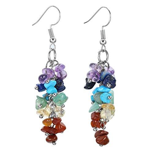 Crystaltears 2Pcs/1par pendientes Multicolor piedra