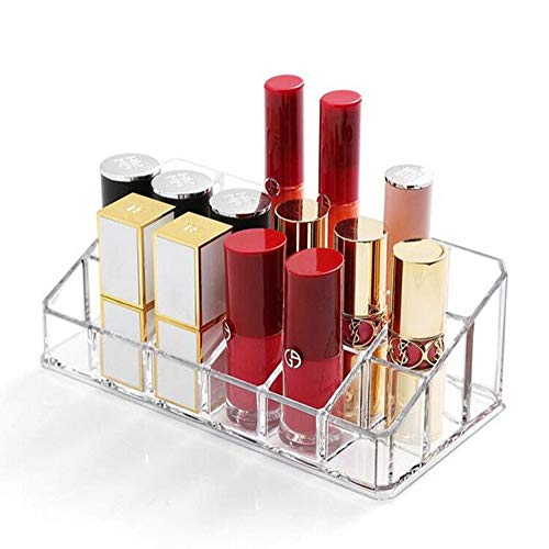 Weiai Make-up-Pinsel-Organizer, 3 Fächer, Acryl-Eyeliner, für Kosmetik Clear03