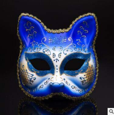 TWELVEMJ Neue Venezianische Ball Masken Oberen Gesichtshälfte Maskerade Maske Halloween Thema Party Katze Cosplay Kinder Maske Tanz Make-Up Requisiten CKI84, große Katze (Kinder Katze Für Halloween-make-up)