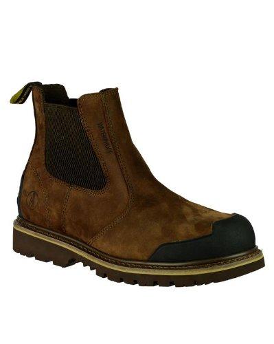 Amblers-Safety FS225 botte Hommes Bottes Embout de travail Chaussures en cuir brown