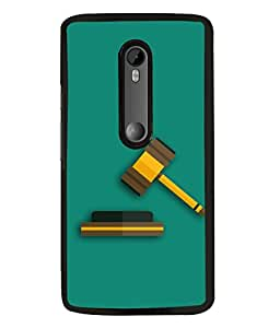 Motorola Moto G3, Motorola Moto G (3rd Gen), Motorola Moto G3 Dual SIM Back Cover 3D Render Of A Gavel On A Dramatic Background Design From FUSON