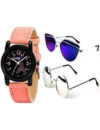 5f987231679 Sheomy Stylish sunglasses 3 Combo Set of 3 UV Protect Aviators Unisex  sunglasses   goggles for