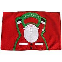 BESTOYARD Dibujos animados de Navidad Papá Noel cuchillo tenedor mantel a prueba de calor taza posavasos antideslizante manteles de mesa fiesta de decoración de escritorio suministros para casa restaurante hotel