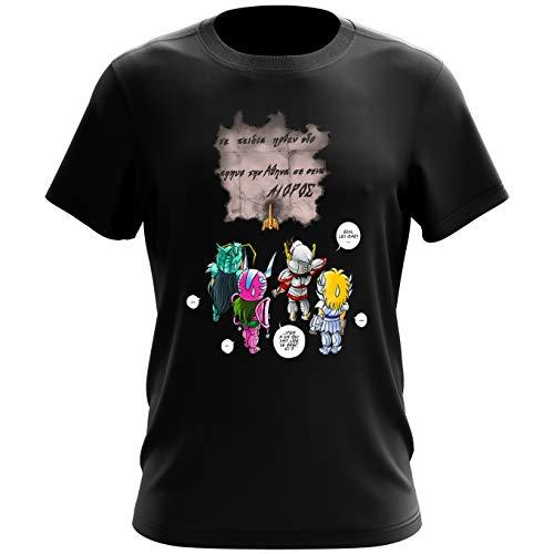 T-shirts Saint Seiya - Les Chevaliers du zodiaque parodique Seiya, Shiryu, Hyoga et Shun dans la maison d'Aioros : 4 touristes japonais perdus en Grèce... (Parodie Saint Seiya - Les Chevaliers du zod