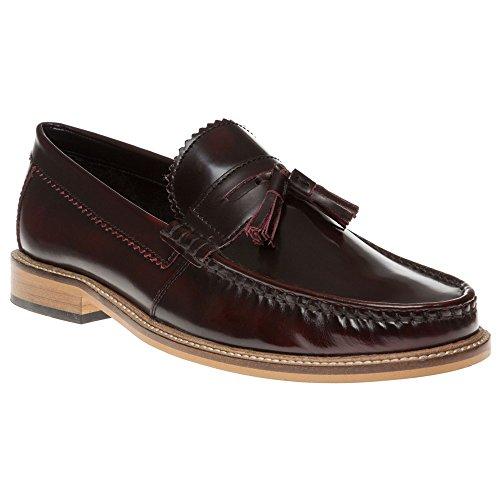 Lambretta Tassle Loafer Homme Chaussures Bordeaux Bordeaux