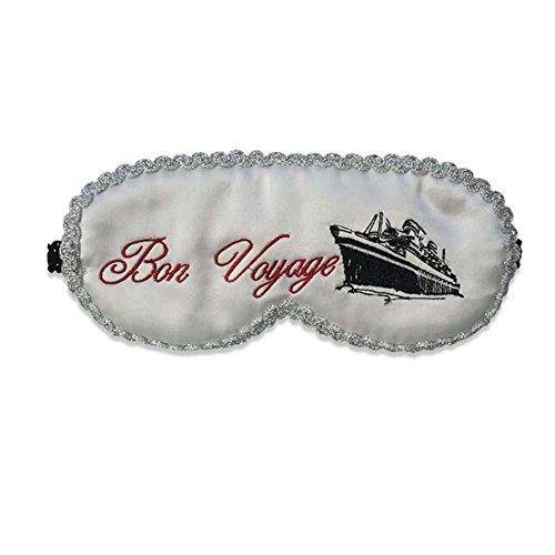 Couverture de masque d'oeil de sommeil de soie de belle conception de style blanc