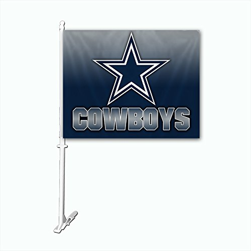 NFL Dallas Cowboys Ombre Car Flag with Wall Brackett, One Size, Team Color