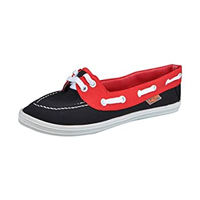 Lancer Black Red Women's Walking Shoes 3 UK