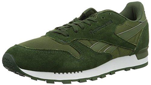 Top Canopy (Reebok Herren Classic Leather Clip Ele Low-Top, Grün (Moss Green/Primal Green/Canopy Green), 42 EU)