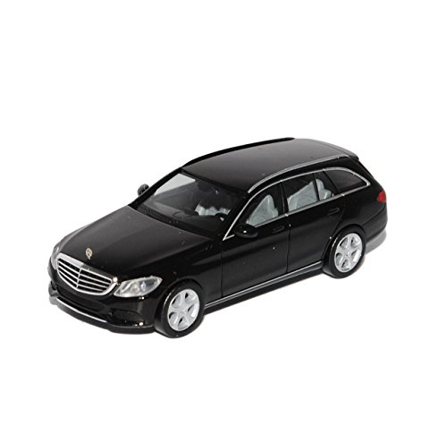 Herpa Mercedes-Benz C-Klasse Elegance Kombi Schwarz W205 Ab 2014 H0 1/87 Modell Auto