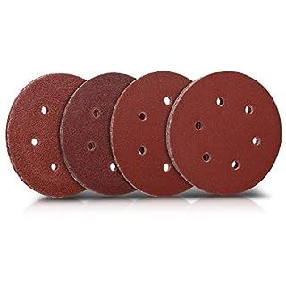 Navaris 25x Klett Schleifpapier rund für Exzenterschleifer - 40-100 Körnung ø 125mm Schleifscheiben Set für Holz Holzwerkstoffe Spanplatte Metall