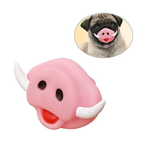 Für Hunde Schweinchen Kostüm - HXHON Lustiges Hundespielzeug für Halloween, Schweinchen, Nasenform, Silikon