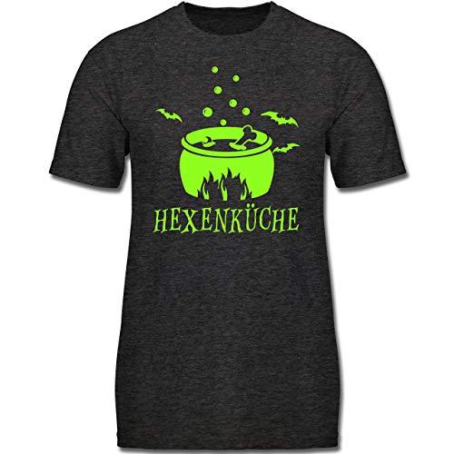 Kleine Köche & Bäcker - Hexenküche - 128 (7-8 Jahre) - Anthrazit Meliert - F130K - Jungen Kinder T-Shirt
