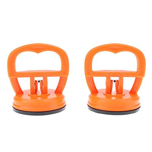 Gummisauger, 2Pcs orange Tablette starker Saugnapf Telefon Reparatur Schirm Glas Aufzug Vakuum starke Saugnapf Werkzeuge Starke Sucker (Schirm Für Telefon)