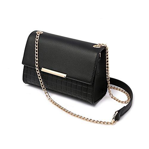 Borsa selvaggia semplice estiva, versione coreana della borsa a tracolla, zaino obliquo, borse, pacchetto mini catena ( Colore : Nero ) Nero