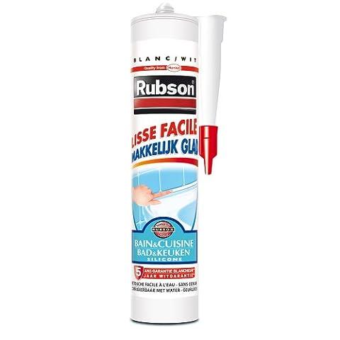 Rubson Mastic Sanitaire Lisse Facile Cart Blanc 280 ml
