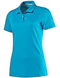 PUMA Pounce Cresting Golf Polo 2016 Ladies Hawaiian Ocean X-Small