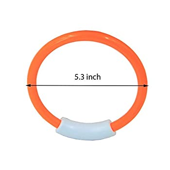 Wotow Dive Rings, 4 Piece Plastic Diving Rings Underwater Swimming Toy Rings Dive Training Gift For Boy Girl Students Recreation Play Summer Pool Toy Assorted Colors Dive Rings Kids Pool Water Game (4 Pcs) 6
