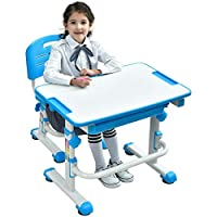 Height Adjustable Kids Desk Chair with Tiger Seat Pad Ergonomic Desk Children Study Table School Desk Chair - Mini