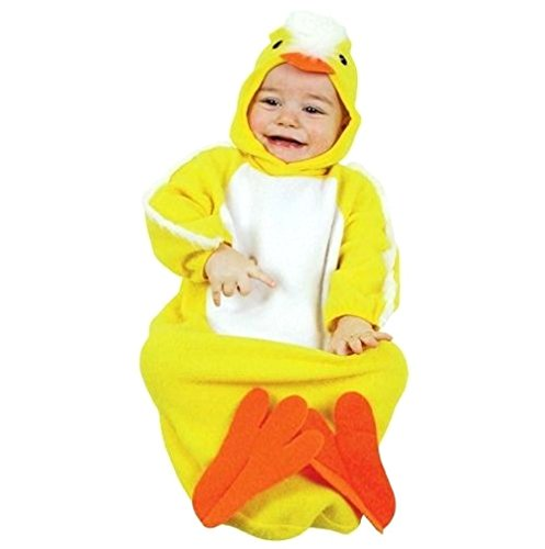 (0-9 Monate - Kostüm - Verkleidung - Karneval - Halloween - Tier Küken - Gelbe Farbe - Unisex - Kinder Babys)