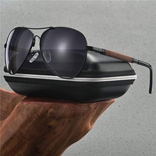 SYQA New Retro Fashion Mens Pilot unglasses Polarisierte Vintage Brillen Zubehör Sonnenbrille Für Männer Klassische Männer Brillen,C4