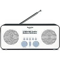 TechniSat Viola 2 S tragbares DAB Radio (DAB+, UKW, Kopfhöreranschluss, AUX-In, zweizeiliges Display, Tastensteuerung, 4 Watt RMS, Stereo Lautsprecher) weiß/schwarz