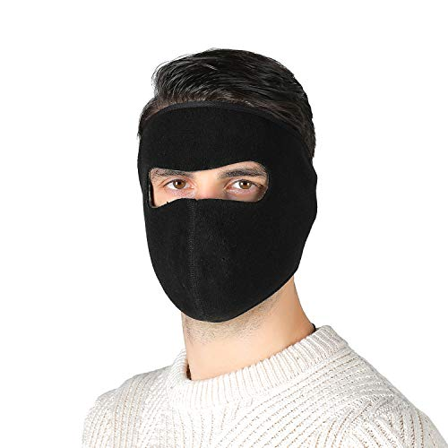 Winter Winddichte Maske,Winter Kalt Beweis Maske Winddicht Ski Gesichtsmaske Halbes Gesicht Mund Wärmer für Motorrad, Winddicht, Anti-Staub,Radfahren, Skifahren, Schwarz(Unisex Warm)