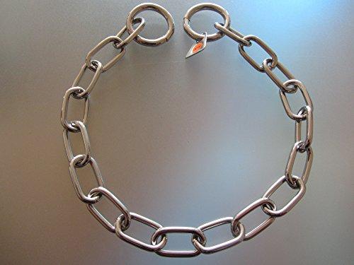 Artikelbild: Kettenhalsband Mediumkette mit 2 Ringen Edelstahl 3 mm für Hunde bis 55 kg (61 cm)