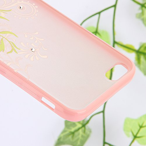 SainCat Coque iphone 6,Coque Silicone Transparent, iphone 6s Housse Retour Hard Case Bumper Skin Shell,Brilliant Effect de Protection Pare-Chocs Complete Protecteurs,Transparente Clair TPU silicone so fleur de vigne