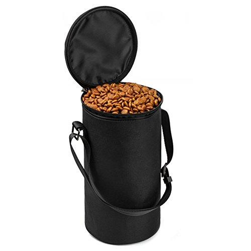 Petacc Hundefutter Container Tragbar Outdoor Hundefutter Behälter mit Riemen Futterbehälter für Hunde/Katzen, 4L