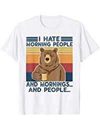 I Hate Morning People and Mornings and People vintage Maglietta