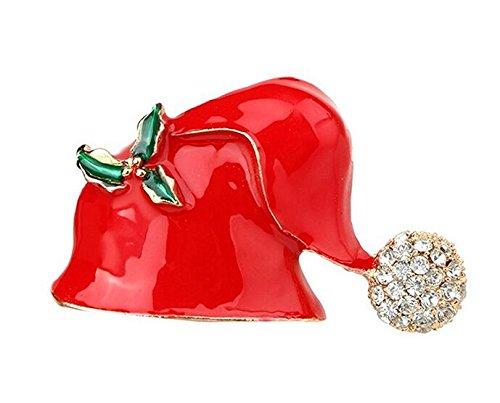 hnachten Form Brosche Pin Anzug Brosche (Rot) (Santa Anzug Pullover)