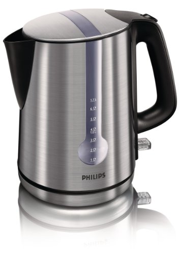 Philips HD4671/20 Energy Efficient Kettle, 3000 W , 1.7 L - Brushed Metal