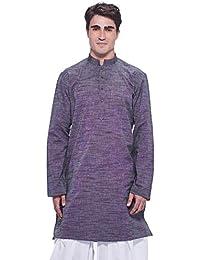 Manyavar Men's Knee Long Cotton Kurta
