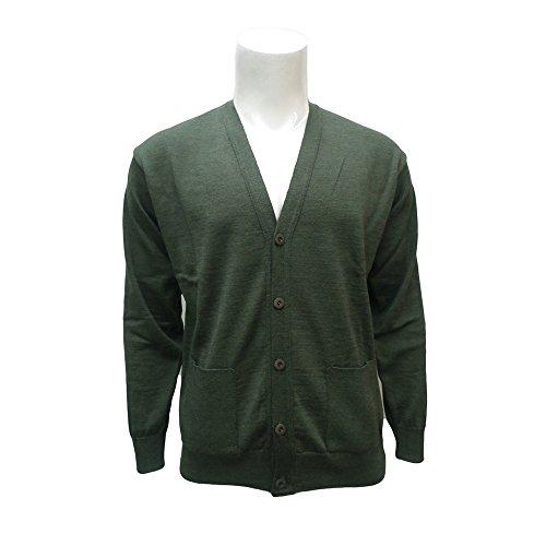 Peter Gribby Ltd - Gilet -  - Manches longues Homme Vert - Green Melange